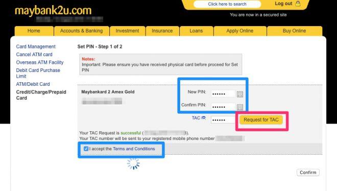 Narui My Maybank credit card activation4