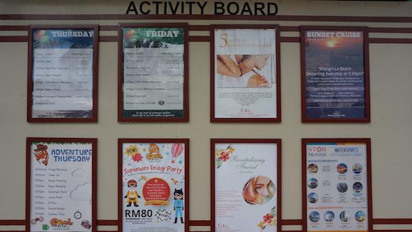 narui.my shangri-la activity board