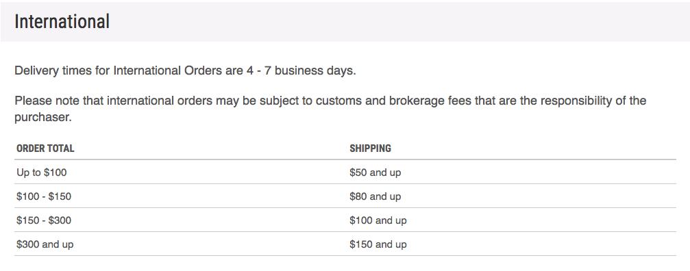 Art resin shipping fee international